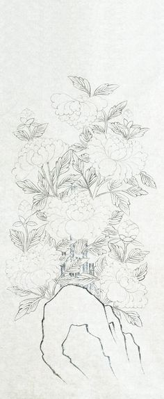 Korean Painting, Korean Art, Coloring Pages, Drawings, Floral, Flowers, Pattern, Outdoor, Quote Coloring Pages