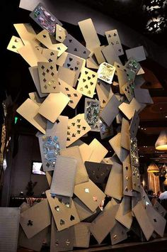 Each column surrounding the ARIA Poker Room is contains a full 52 card deck!