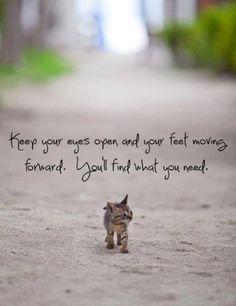 Feet moving forward...