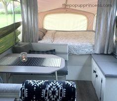 Pop Up Princess: Camper Makeovers Popup Camper Remodel, Travel Trailer Remodel, Camper Renovation, Camper Remodeling, Small Pop Up Camper Remodel, Remodeling Ideas, Jayco Travel Trailers, Camper Trailers, Vw Camper