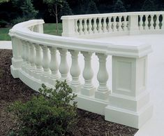 Curved Cast Stone Balustrade