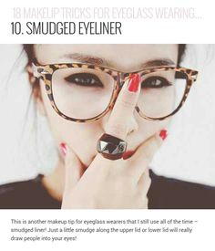 ae3e6962519 Nice make-up tips for glasses people  )  MakeupTutorialContouring Everyday  Makeup Tutorials
