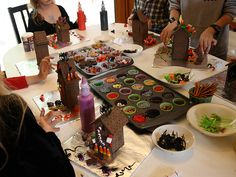 Haunted Gingerbread houses!