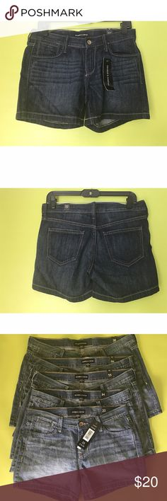 "George & Martha Dark Wash Denim Jeans Shorts Sz 38 B1070E NWT New With Tags  Shorts  Size 38  Waist - 38"" Rise - 9.5"" Inseam - 5.5""  George & Martha 5 Pockets Top Stitched Dark Wash Denim Blue Jean Shorts Size 38  Free shipping on orders over $75 George & Martha Shorts Jean Shorts"