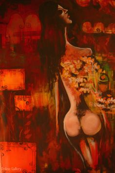 Stefania – pictura pe panza #art, #Painiting, #Creative