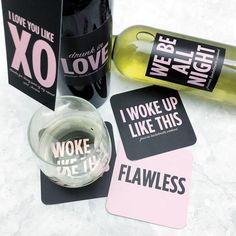Beyonce-inspired Bachelorette party favors {Courtesy of aislesociety}