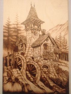 Very nice piece of pyrograghy