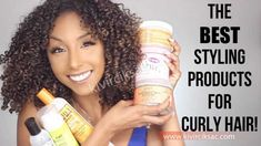 """Ready to watch a awesome How-To & Style video to watch? This video titled, """"The BEST Styling Products For Curly Hair Curly Hair Model, Fine Curly Hair, Curly Hair Styles, Curly Girl, How To Use Cantu Curl Activator, How To Use Cantu Products, Natural Hair Care, Natural Hair Styles, Cantu Curls"""