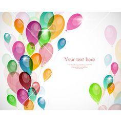 Balloons vector on VectorStock®