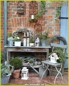 Garten Deko – Mannoman … What kind of weather is that …. , ordered – - All About Garden Garden Deco, Diy Garden, Garden Cottage, Garden Pots, Shabby Chic Garden, Garden Sheds, Bottle Garden, Outdoor Living, Outdoor Decor