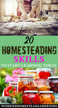 Homesteading Skills To Start Learning Today - womens homesteading Learning Skills, Skills To Learn, Greenhouse Farming, Homesteads, Hobby Farms, Homestead Survival, Canning Recipes, Quality Time, Easy Diy Projects