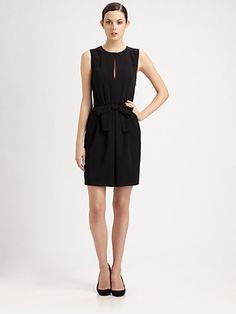 Moschino Cheap And Chic - Bow-Front Dress - Saks.com