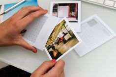 Polaroid postcards. Transform conventional photos into a Polaroid lookalike that doubles as a postcard. Sold in a set of 7. $15