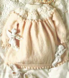 Knit Baby Dress Vintage Pattern knitting pullover top skirt matinee coat dresses retro clothes girl boy aran jumper pdf digital download