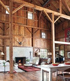 Old Barn Transformed into a Stylishly Modern and Fully-conditioned Home   http://www.designrulz.com/design/2013/08/old-barn-transformed-into-a-stylishly-modern-and-fully-conditioned-home/