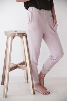 """• Mauve jogger sweat pants • Available in sizes S, M, L. Aspyn is 5' 4"""" and wearing a size small • 62% POLYESTER, 33% RAYON, 5% SPANDEX"""