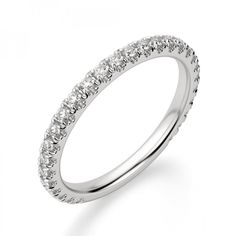 This Ring is Also Available Yellow Gold and Rose Gold White ,Yellow & Rose Gold. Diamond Color :E-F. Round Diamond Ring, Diamond Shapes, Round Diamonds, Simple Wedding Bands, Wedding Rings, Wedding Gold, Diamond Alternatives, Half Eternity Ring, Diamond Simulant