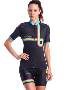 9428e8902 Women s Cycling Jersey Our women s cycling jerseys fit and flatters  feminine curves. Silicone gripper at
