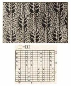 Lace Knitting Patterns, Knitting Charts, Lace Patterns, Knitting Stitches, Knitting Designs, Free Knitting, Baby Knitting, Stitch Patterns, Creative Knitting