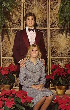 "Brad Pitt's prom photo...can you imagine being the girl in it? ""Hey mom, who did you take to prom?"" ""Oh, you know, just Brad. BRAD PITT."""