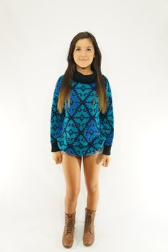 vintage tribal sweater by VintageFad on Etsy, $18.00