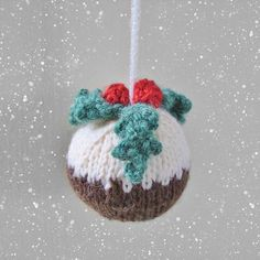 Christmas Pudding Bauble Knit Pattern