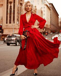Costbuys Maxi-Dress Bandage Long-Sleeve Boho-Style Plus-Size Impulsive Summer Solid Vestidos Prom-Dresses Sexy Maxi Dress, Maxi Dress With Sleeves, The Dress, Sexy Dresses, Vintage Dresses, Casual Dresses, Evening Dresses, Dress Long, Red Dress Outfit