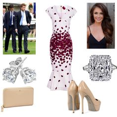 Duke and Duchess attending a flower show., created by royal-fashion on Polyvore