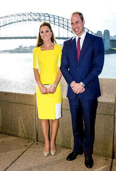 Bridging Cultures Prince William and Kate Middleton posed in front of the Sydney Harbour Bridge at a reception hosted by the Governor and Pr...