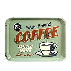 CKB Ltd® American Style Retro Diner COFFEE SERVING TRAY Plateau Mélamine Cuisine Idéal pour le dîner, Tea Time, sandwiches, des snacks et Plus - Fabriqué à partir de plastique solide Mélamine