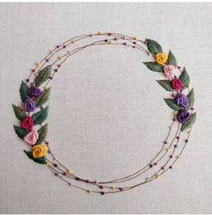 Hand Embroidery Patterns Free, Embroidery On Clothes, Embroidery Flowers Pattern, Embroidery Sampler, Learn Embroidery, Embroidery Hoop Art, Vintage Embroidery, Simple Flower Embroidery Designs, Indian Embroidery