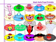 Mask-Smile Party Photo Booth Props Set 20 by AmazingPartyShop