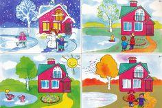 Thema seizoenen voor kleuters / Seasons theme for preschool, free printable