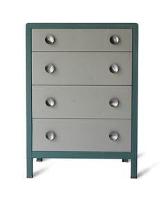 simmons metal dresser. industrial metal simmons dresser