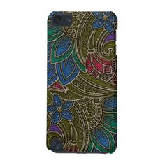 Elegant Faux  Leather  Oriental Floral design iPod Touch 5G Case - elegant gifts classic stylish gift idea diy style