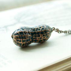 Copper peanut pendant electroformed by Baklatifon on Etsy
