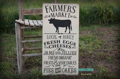 Farmers Market Sign, Farmhouse Decor, Farmhouse Sign, Rustic Farmhouse Wall Decor, Fixer Upper Style by HorsecreekPrimitives on Etsy https://www.etsy.com/listing/289975295/farmers-market-sign-farmhouse-decor