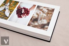 Queensberry Wedding Album | Vibrant Photography - Beautiful details in a Duo album with Ivory Mats