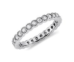 Burnished Diamond Eternity Ring in 14k White Gold (1/2 ct. tw.)