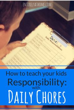 Want to work on teaching your kids some responsibility this summer? Here's how we use daily chores, with Free Printable Chore Charts for Kids!