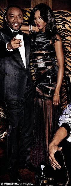 The whole crew: Creator Lee Daniels and guest star Naomi Campbell also joined the shoot wh...