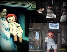 The Conjuring was a true story. This is a real picture of the doll, Annabelle. Shiver me timbers.