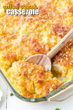 This Yellow Squash Casserole is the ultimate comfort food! It can be prepped ahe… This Yellow Squash Casserole is the ultimate comfort food! It can be prepped ahead of time and popped in the oven just before dinner! Veggie Recipes, Side Dish Recipes, Cooking Recipes, Healthy Recipes, Yellow Zucchini Recipes, Recipes With Yellow Squash, Baked Squash And Zucchini Recipes, Roasted Yellow Squash, Yellow Squash Soup