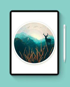 Landscape painting Procreate tutorial + Free brushes