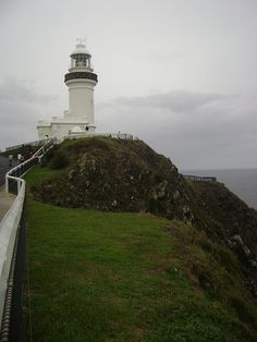 Byron Bay Lighthouse (most eastern point of Australia) New South Wales. Right at the tail end of summer is great time to visit. Places To Travel, Places To See, Lighthouse Lighting, Beacon Of Light, Byron Bay, Australia Travel, Gold Coast, Safe Harbor, Beautiful Places