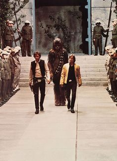 star wars throne room scene. The music from this scene was used for my wedding when Andrew and I marched down the 'grass' of the garden we were getting married in. Our friends recognized it and smiled...my parents and their contemporaries just enjoyed the great sound.