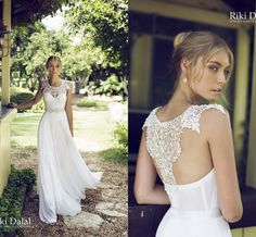 Cheap Wedding Dresses, Buy Directly from China Suppliers: Welcome To My Shop Bridal Dress A-Line Scoop Chiffon Lace Garden Wedding Gown Appliques Pearls Beads Backless Sleevele Beach Bridal Dresses, Lace Beach Wedding Dress, Applique Wedding Dress, Long Wedding Dresses, Cheap Wedding Dress, Bridal Gowns, Lace Applique, Backless Wedding, Wedding Gowns
