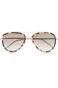 Gucci Aviator-style acetate and metal sunglasses | NET-A-PORTER