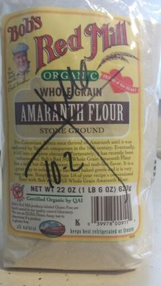 Something new from Nourish Organics. No more processed white flour! Now just need some recipes?