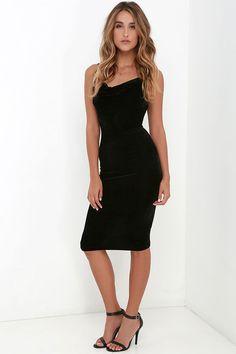 Jazzy Belle Black Velvet Dress at Lulus.com!